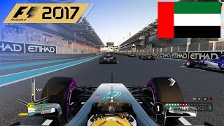 F1 2017 - 100% Race at Yas Marina Circuit, Abu Dhabi in Hamilton's Mercedes