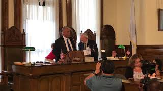 Moises Rodrigues sworn in as mayor of Brockton. He is first Cape Verdean mayor of the city