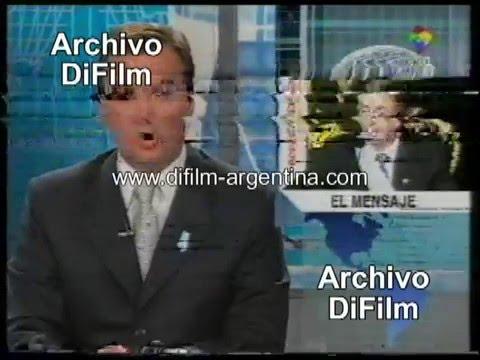 DiFilm - Asunción de Nestor Kirchner - Noticiero America Noticias (2003)