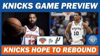 New York Knicks vs San Antonio Spurs Game Preview