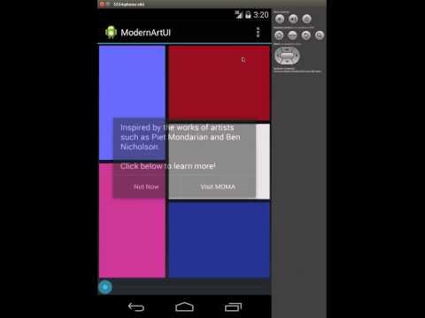 My Modern Art UI App | Coursera