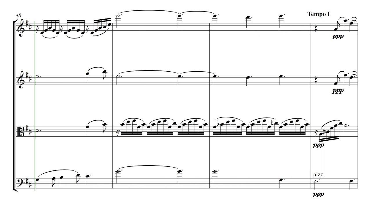 Debussy Clair de Lune | String Quartet Sheet Music