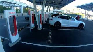 [7.72 MB] The New Las Vegas Supercharger V3 station - full Tesla Energy ecosystem. Model 3 LR RWD