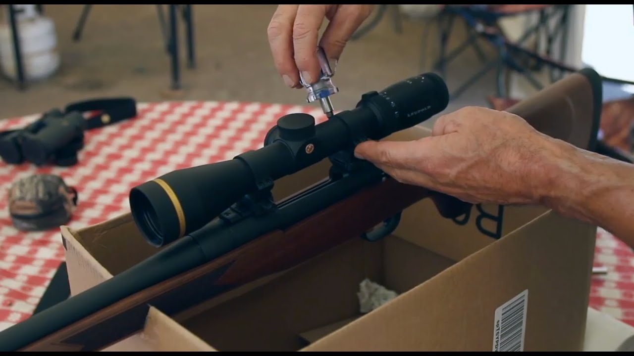 How To Easily Mount A Riflescope - YouTube