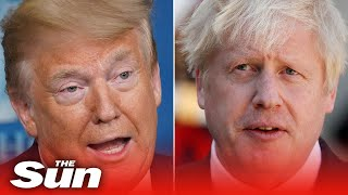Donald Trump says America is praying for Boris Johnson and he's contacted UK doctors to offer help
