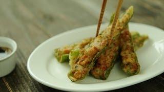 [korean Street Food] Deep Fry Green Chilli Pepper, Gochu Twikim, 고추튀김