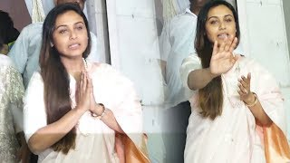 Rani Mukerji BREAKS Down At Her Father's Prayer Meet At Iskcon