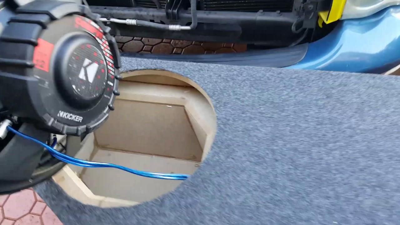 subwoofer box dual 12 de dodge ram 1500 quad cab youtube rh youtube com