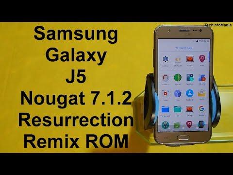 Galaxy J5 Nougat 7.1.2 Resurrection Remix