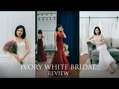 Elegant, timeless classic wedding gown by Ivory White Bridal