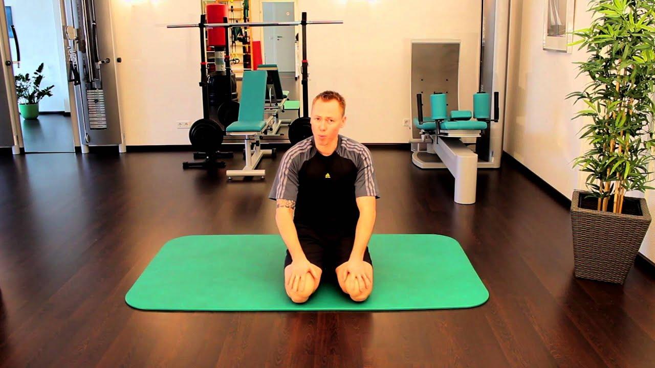 Physiotherapie Die Schulterbrücke Übungen für zu Hause