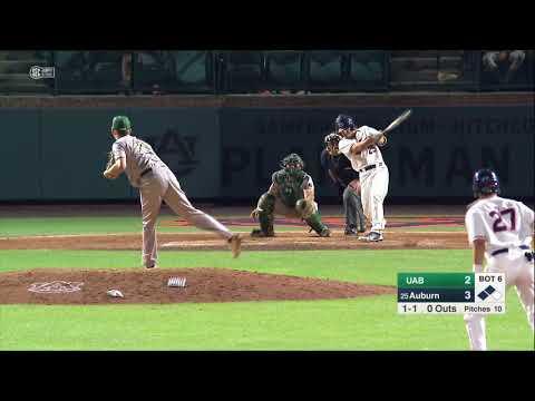Auburn Baseball vs UAB Highlights