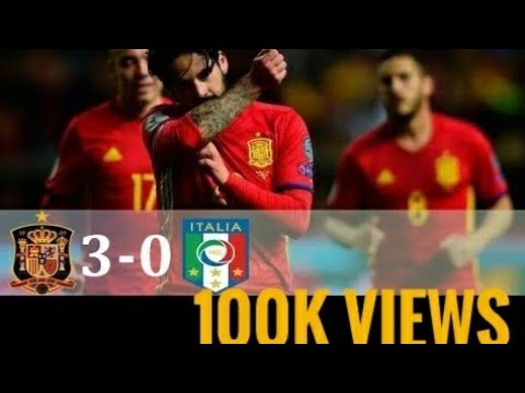 Spain vs Italy 3-0 world cup qualifiers 2018 higlights