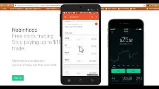 Robinhood App: Follow up to How To Use