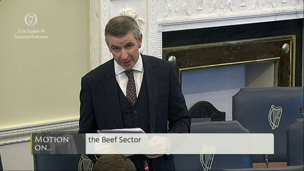 Senator Ian Marshall | Seanad Order of Business 3 October 2019 | Beef Sector