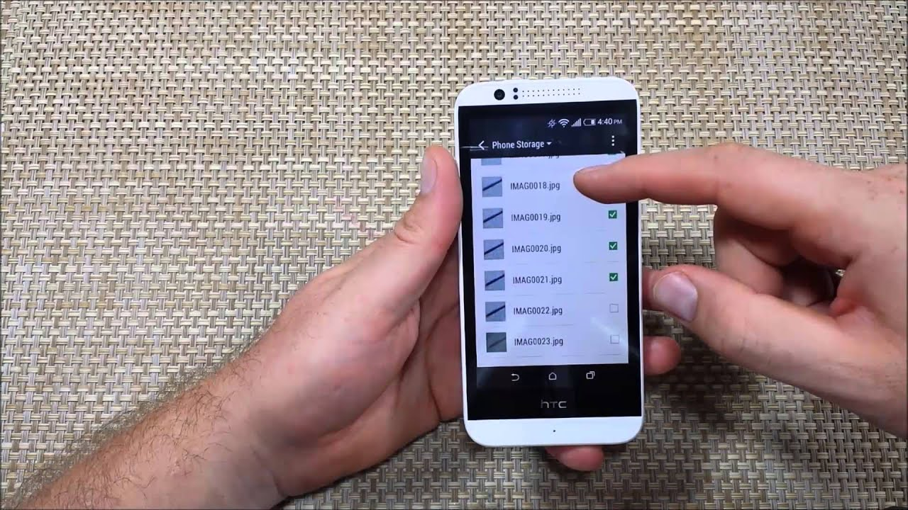 Htc Desire 510 Copy Move Or Transfer Files Photos Folders From Internal Memory To External Sd Card Youtube