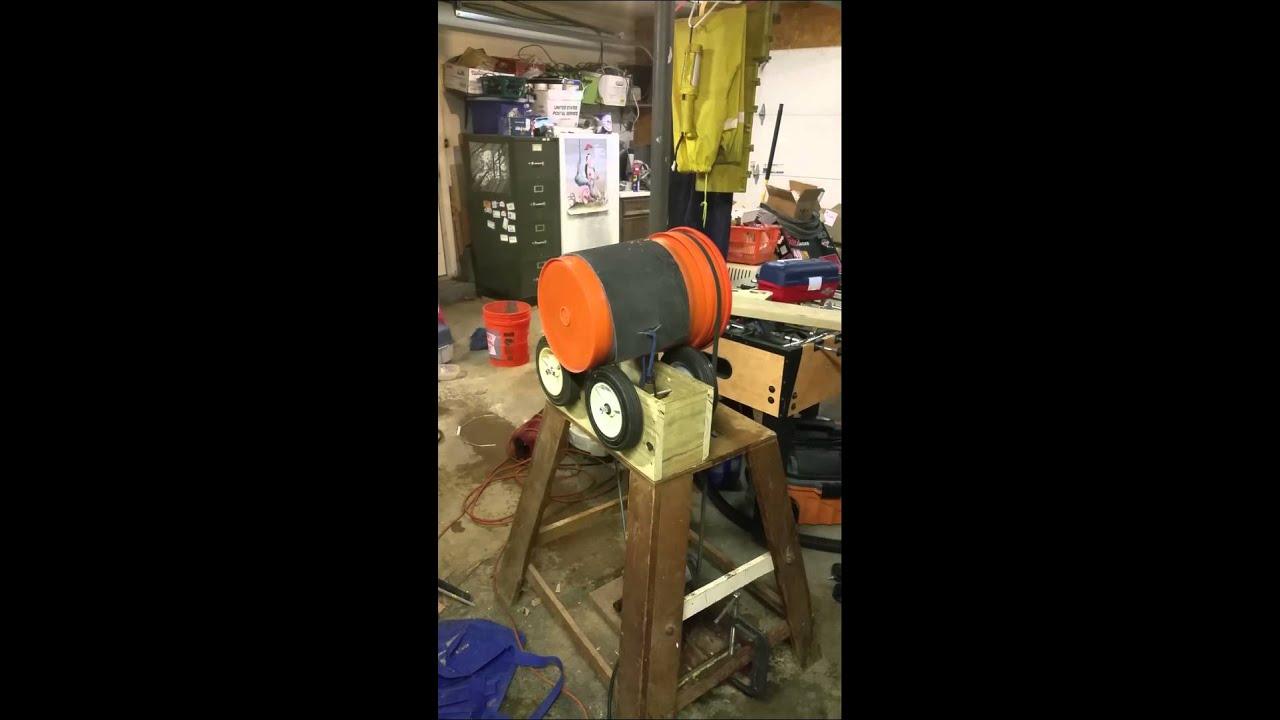 Five gallon bucket rock tumbler | Five
