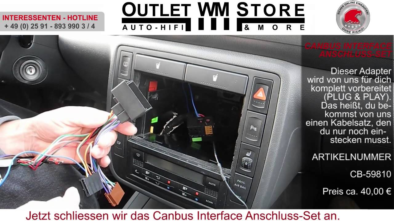 canbus adapter interface einbau in einen seat youtube. Black Bedroom Furniture Sets. Home Design Ideas