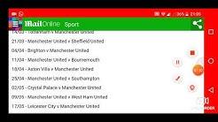 Manchester United Premier League Fixtures 2019/2020 Season