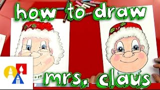How To Draw Mrs Claus