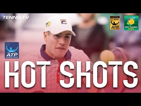 Hot Shot: Isner Pass Finds The Mark At Indian Wells 2017