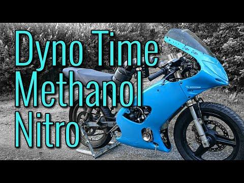 POWER RECORD! Moped On Methanol/Nitromethane Back On The Dyno!