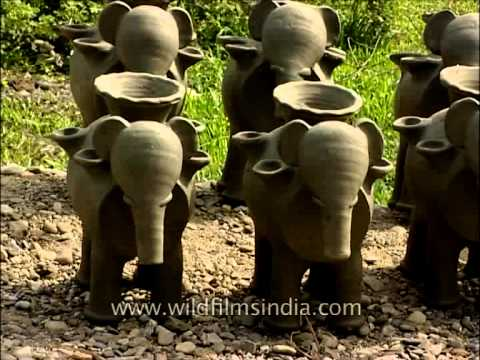 Elephants of clay and other pottery products