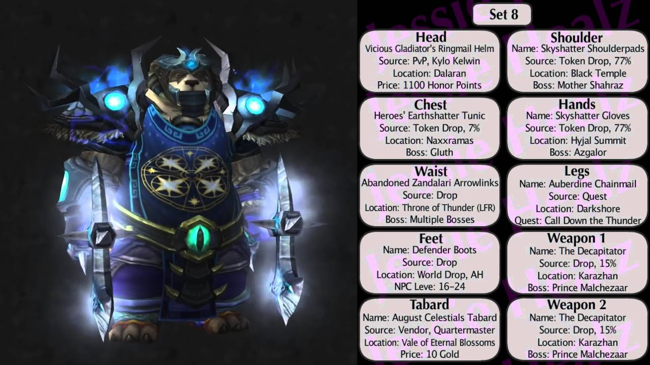 Préférence Jessiehealz - 10 Badass Shaman Transmog Sets #3 (World of Warcraft  JW63