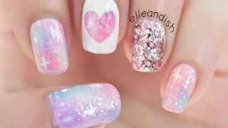 ✦ Pink Galaxy Nails ✦