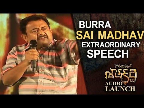 Sai Madhav Extraordinary Speech  Gautamiputra Satakarni  Launch  Lahari   T-Series