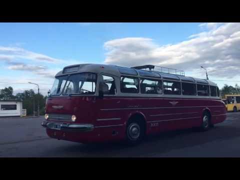 Раритетные автобусы в Кингисеппе. 60 лет линии СПб-Таллин