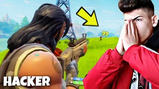 "FORTNITE "" HACKER "" wants 1 VS 1 against me😂 and that happened..."