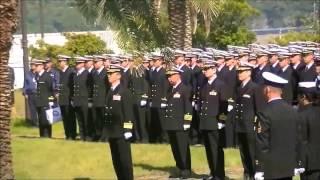 平成25年度海上自衛隊JMSDF練習艦隊九軍神慰霊碑献花祭