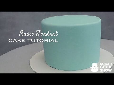 How To Apply Fondant To Cake Tutorial