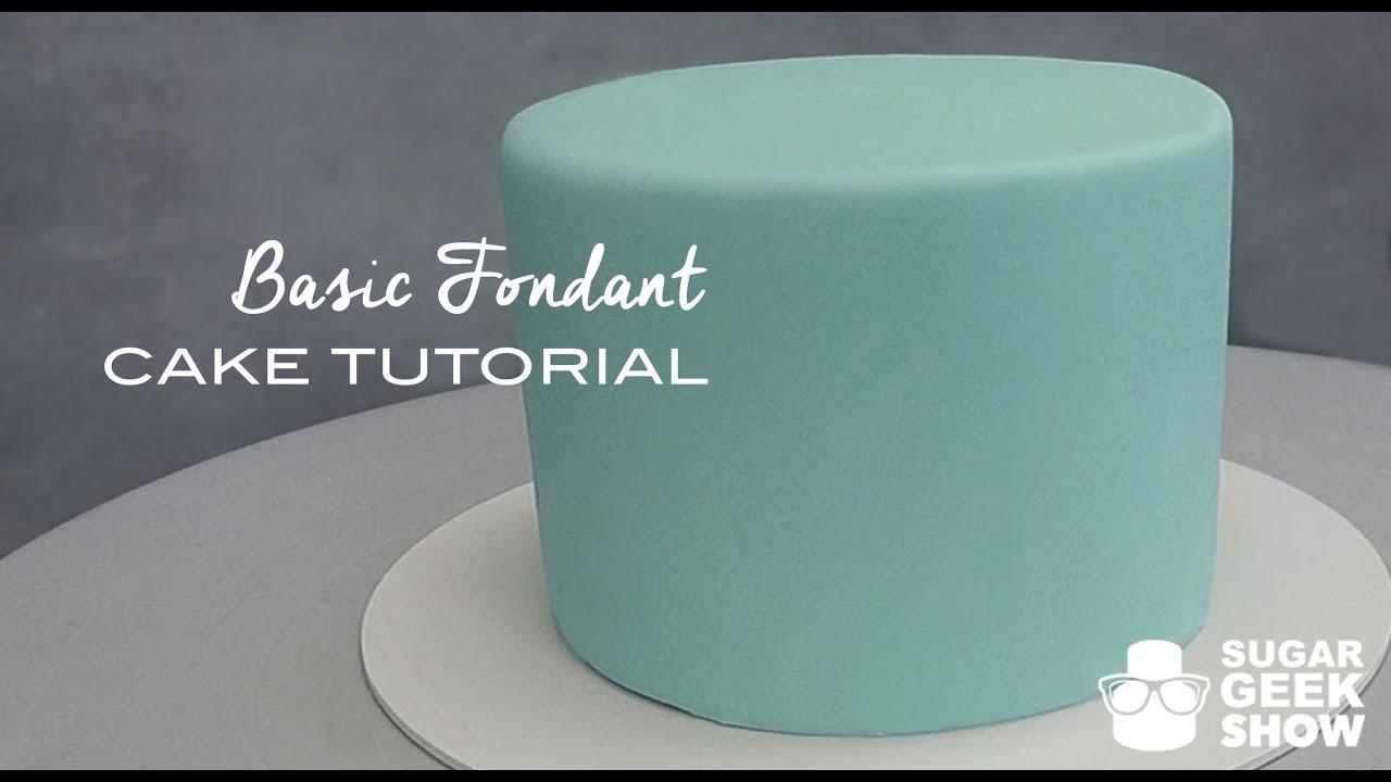 How To Apply Fondant Cake Tutorial