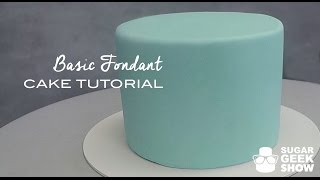 How to apply Fondant to Cake Tutorial