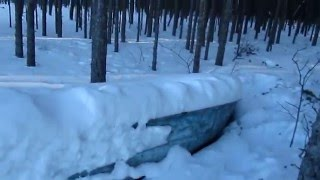 Абгват стаил. 13 км пешком по снегу и с санками.