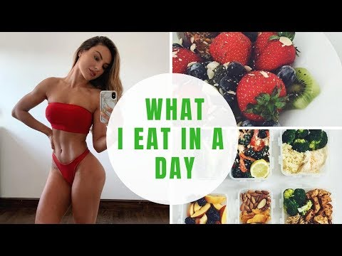 WHAT I EAT IN A DAY - TO STAY TONED & IN SHAPE!
