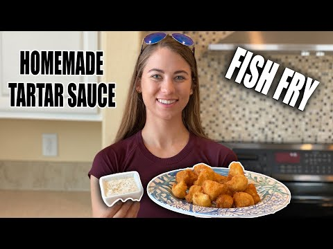 FISH FRY AND HOMEMADE TARTAR SAUCE 🐟👩‍🍳 Deep Fried Cobia | Gale Force Twins