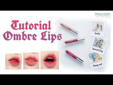 [-tutorial-makeup-]-cara-mudah-bikin-ombre-lips-untuk-pemula-pakai-wardah-exlusive-matte-lip-cream