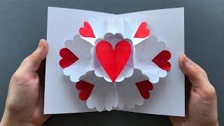 Geschenke basteln mit Papier ❤ Pop Up Karte als Geschenk zum selber machen. Bastelideen