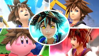Sora All Victory Poses, Final Smash, Kirby Hat & Palutena Guidance in Smash Bros Ultimate