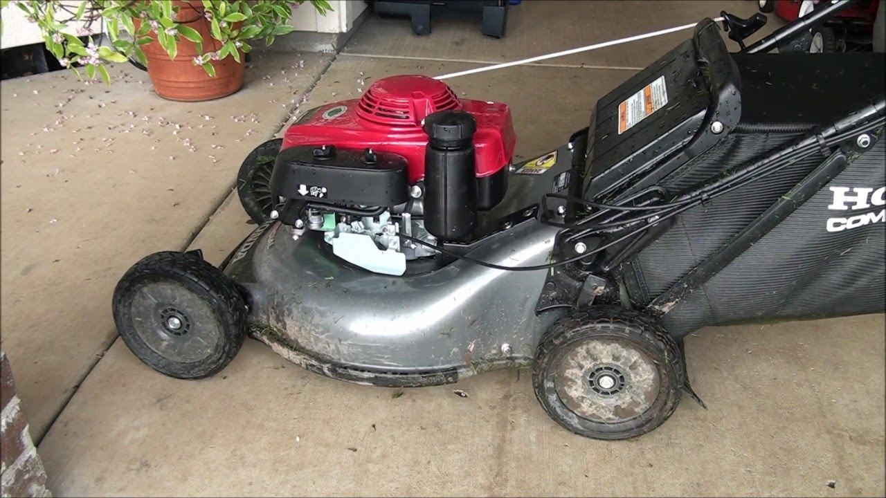 HOW TO FIX a Honda Lawnmower that REVS up TOO MUCH  Repair GOVERNOR  ADJUSTMENT - Too high RPMs