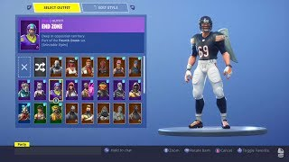 NFL SKIN (End Zone) | Before You Buy | 30+ Backblings | [Fortnite Battle Royale] | Bleachy