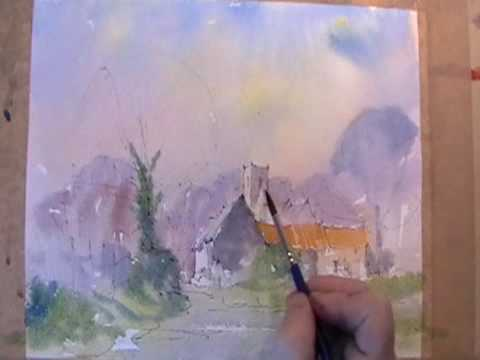 tunstall village suffolk watercolor demonstration youtube