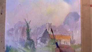 Tunstall village, Suffolk ~ watercolor demonstration