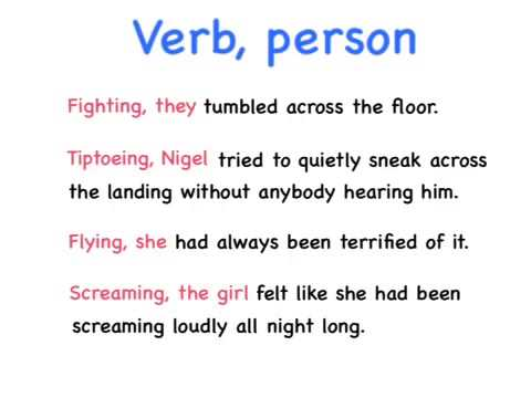 Verb, person sentence - Instruction Video
