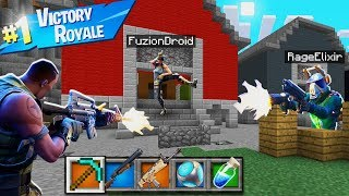 PLAYING REAL FORTNITE BATTLE ROYALE IN MINECRAFT POCKET EDITION