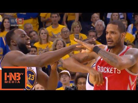 Trevor Ariza & Draymond Green exchange words / GS Warriors vs Rockets Game 3