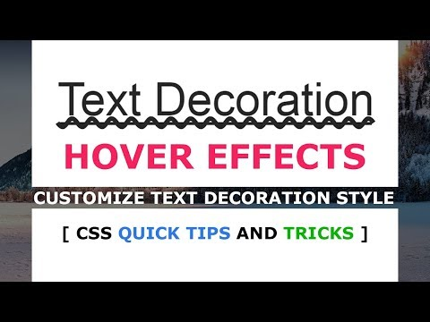 How to make Custom Text Decoration Style - CSS Hover Effects - Tutorial
